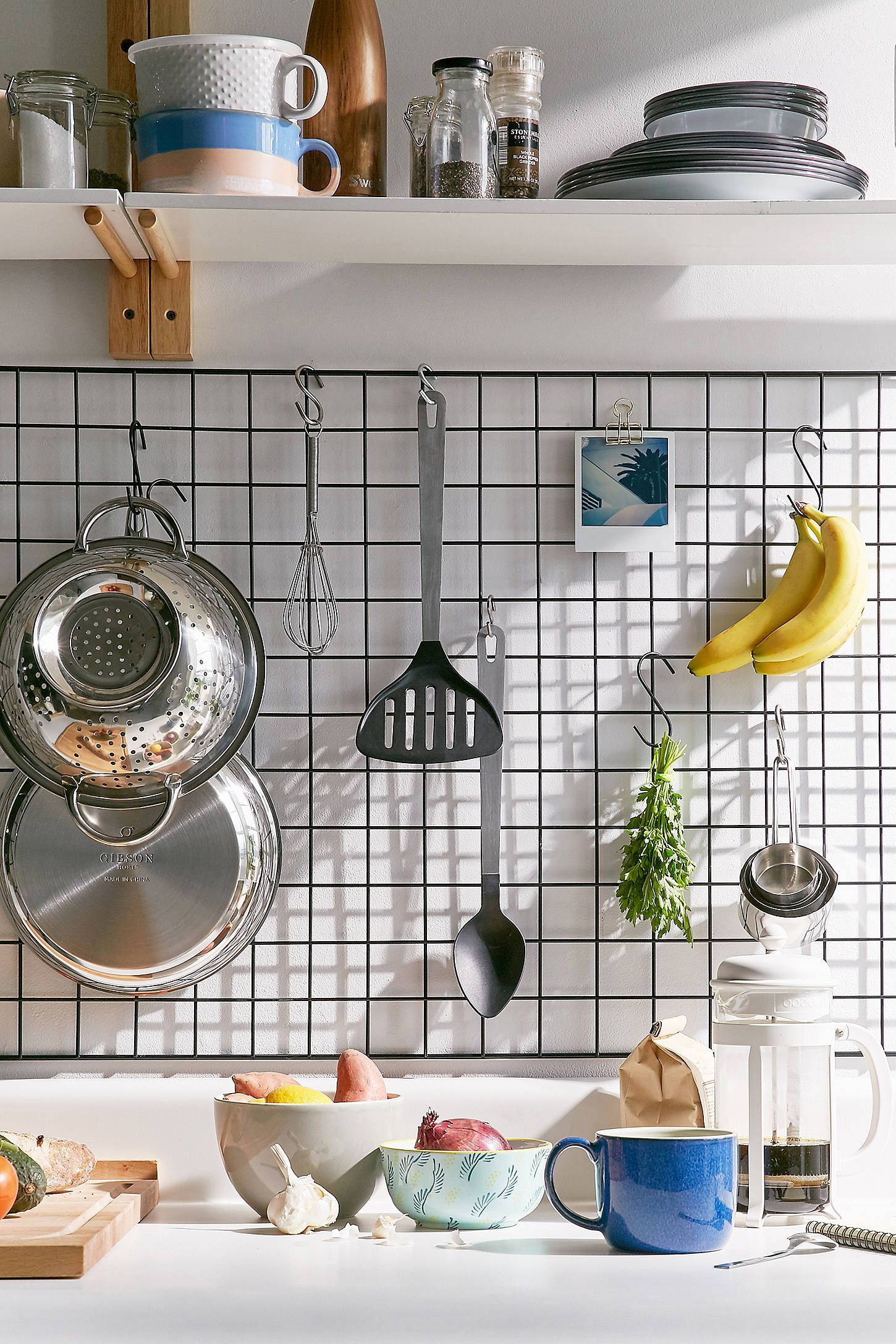 Wire Wall Grid Shelf With Images