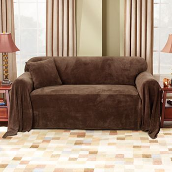 Construction · Sure Fit Plush Sofa Throw Cover