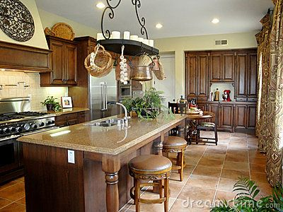 Beautiful Italian Style Kitchen With Gourmet Stainless