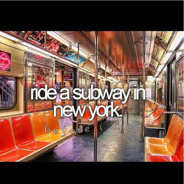 Ride a subway in NYC!
