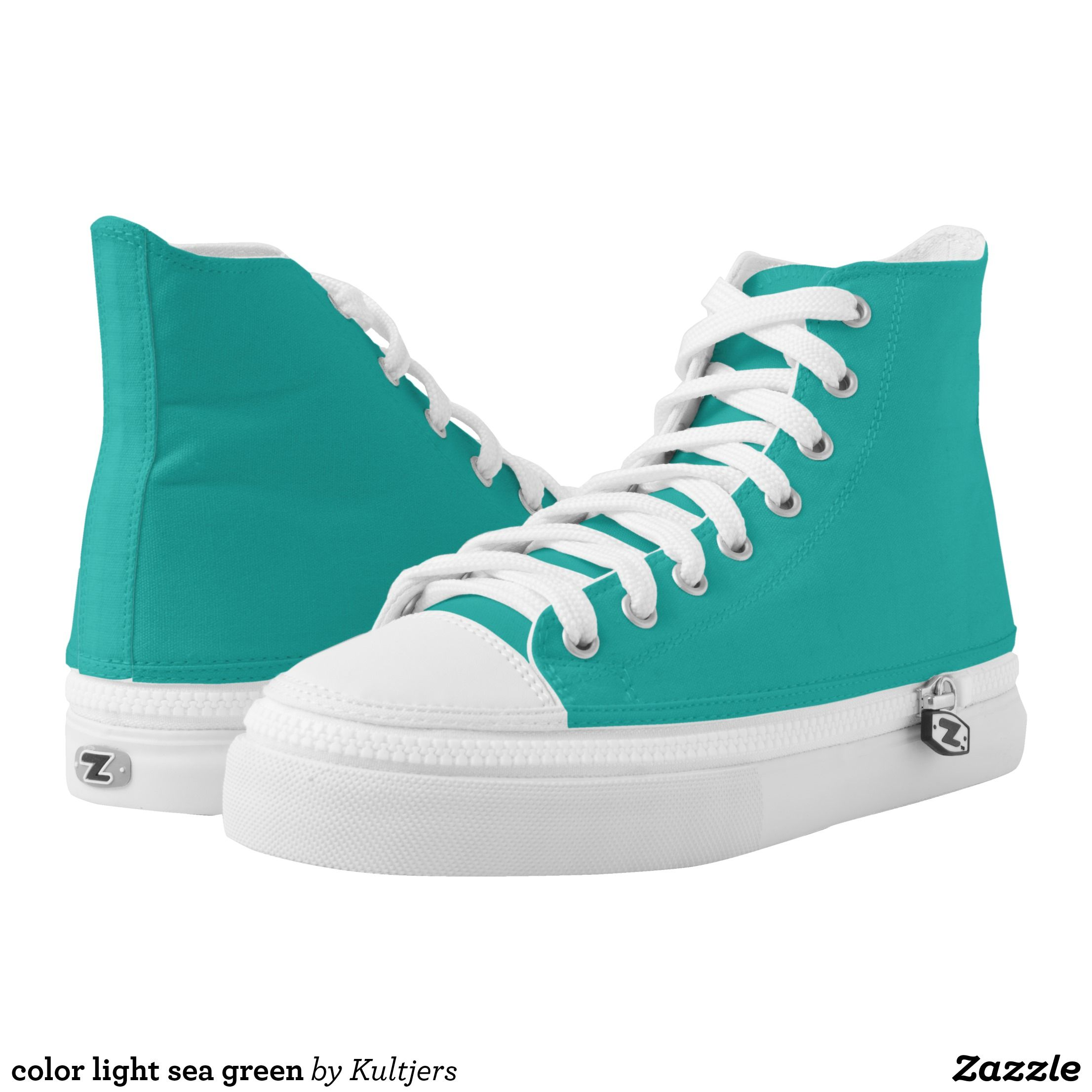 color light sea green High-Top sneakers