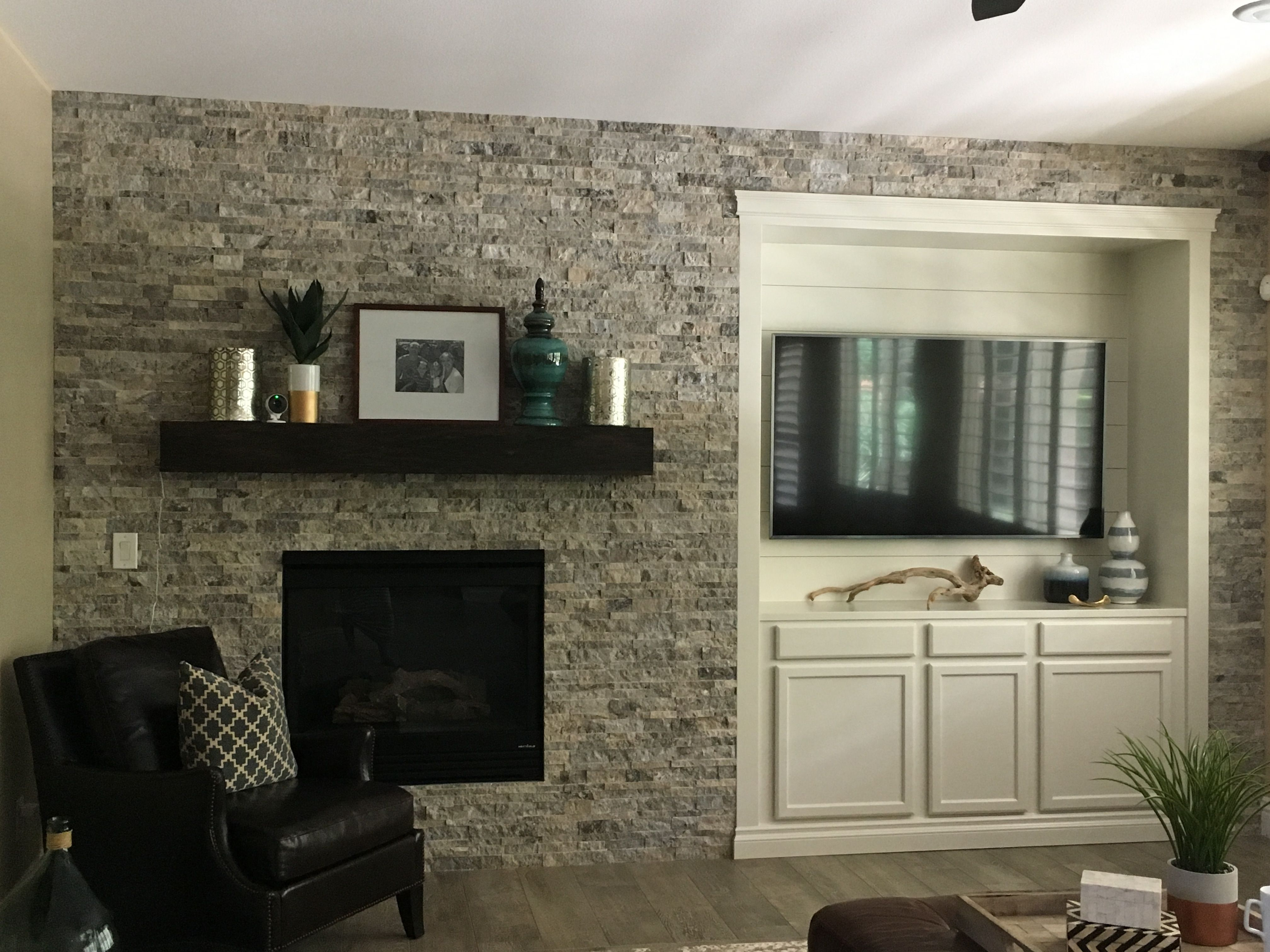 Arizona Tile Silver Split 3d Stack Rock Wall Home Staging