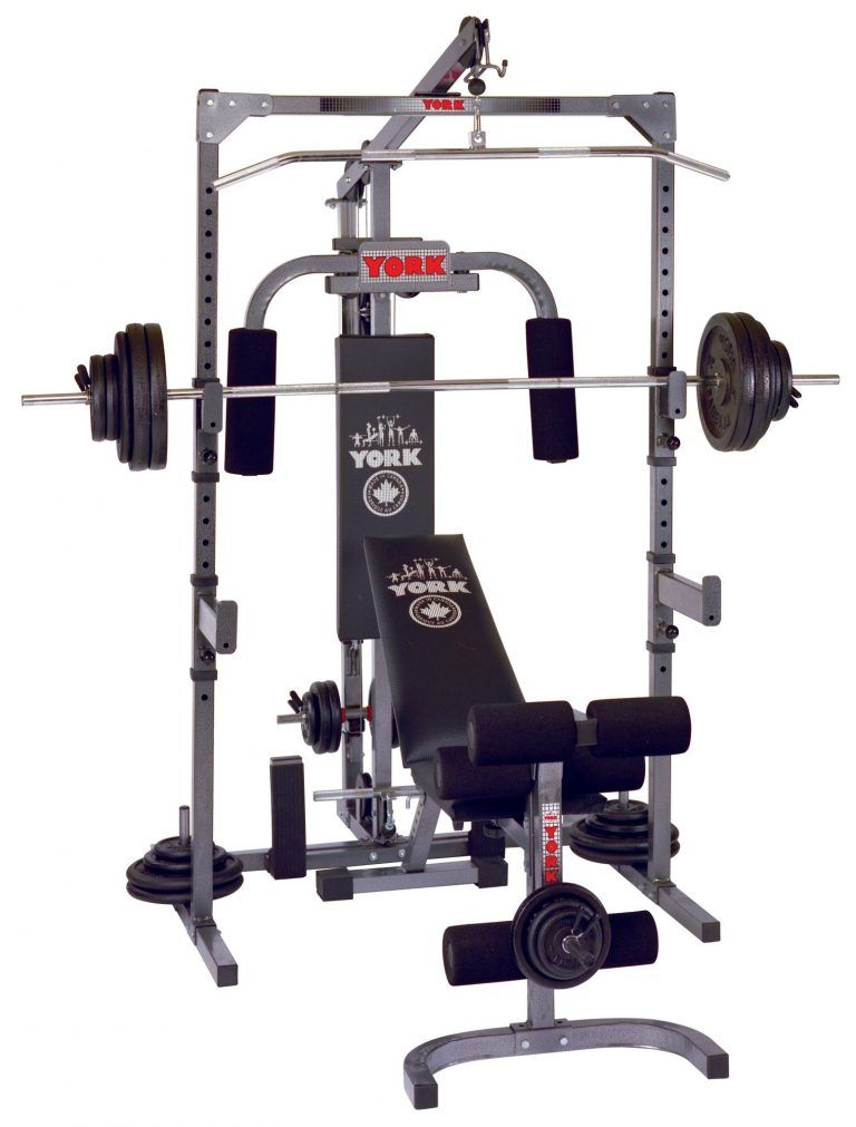 York Barbell 3000 Power Station Home Gym Equipment Muscle Building Workouts Home Gym Build Muscle