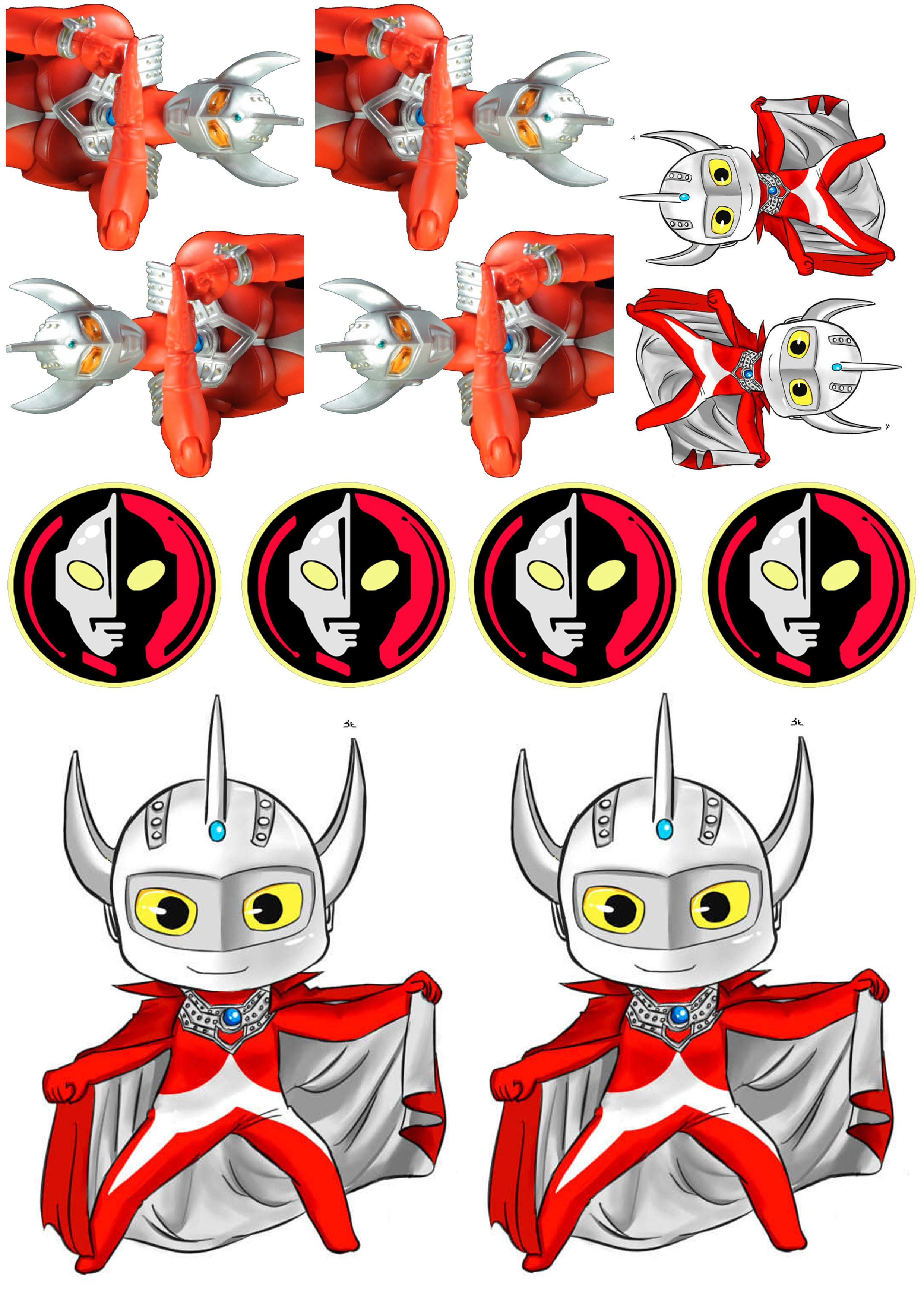 Ultraman Food Toppers! | Aidil\'s 2nd Birthday Party, Fuel Shack ...