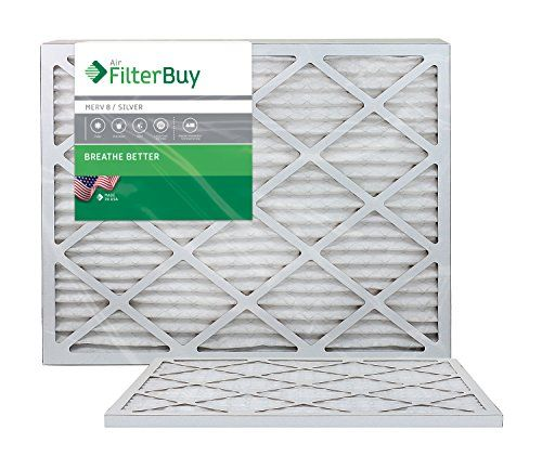 Afb Merv 8 Pleated Ac Furnace Air Filter Silver 2 Pack 20x25x1 Inches Ac Furnace Furnace Filters Merv