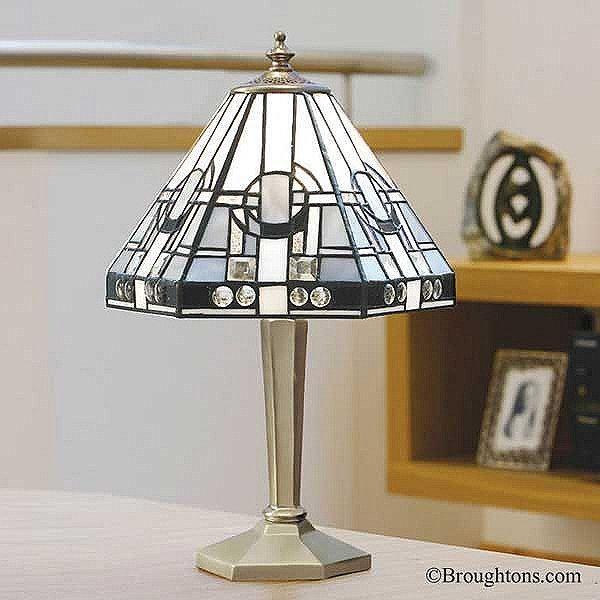 Interiors 1900 Metropolitan Tiffany Table Lamp Nickel Small