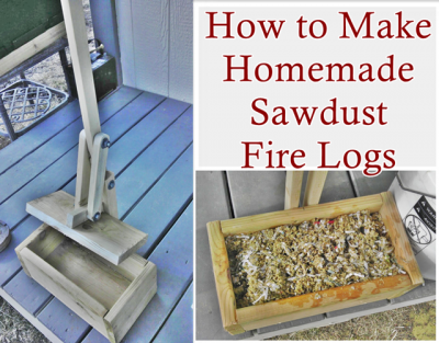 How To Make Homemade Sawdust Fire Logs The Homestead Survival Homesteading Diy Projects Homesteading Diy Homemade