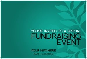 Invitation Card Template For Charity Events Nonprofit