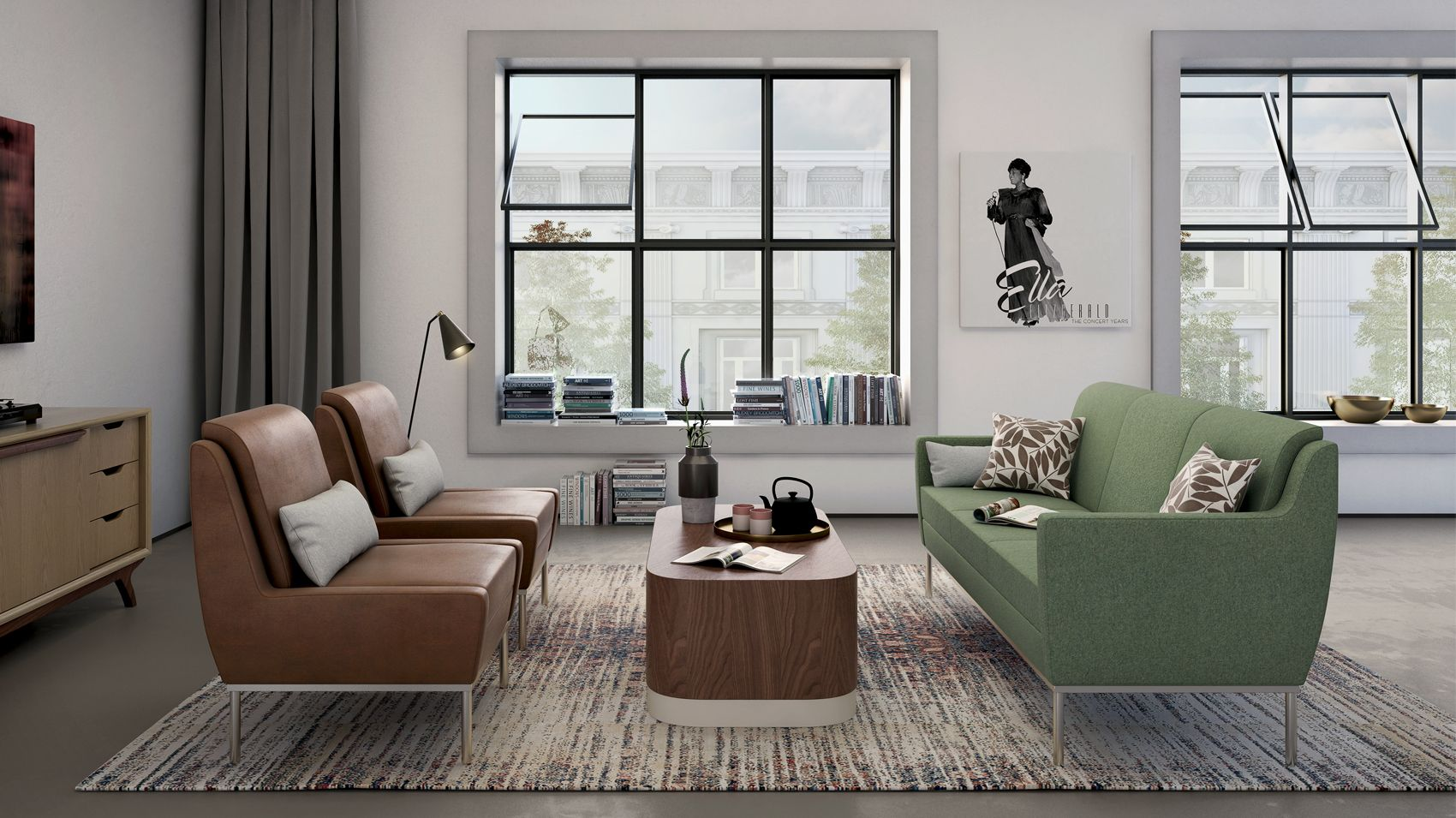 Loewenstein - Dess Lounge with Langston Table and Beck