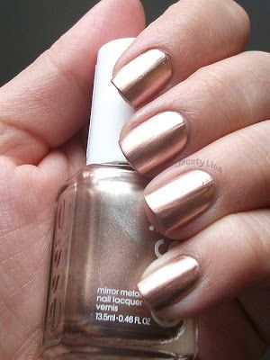 Jaunty Lisa Essie Penny Talk Mirror Metallics Collection Rose Gold Chrome