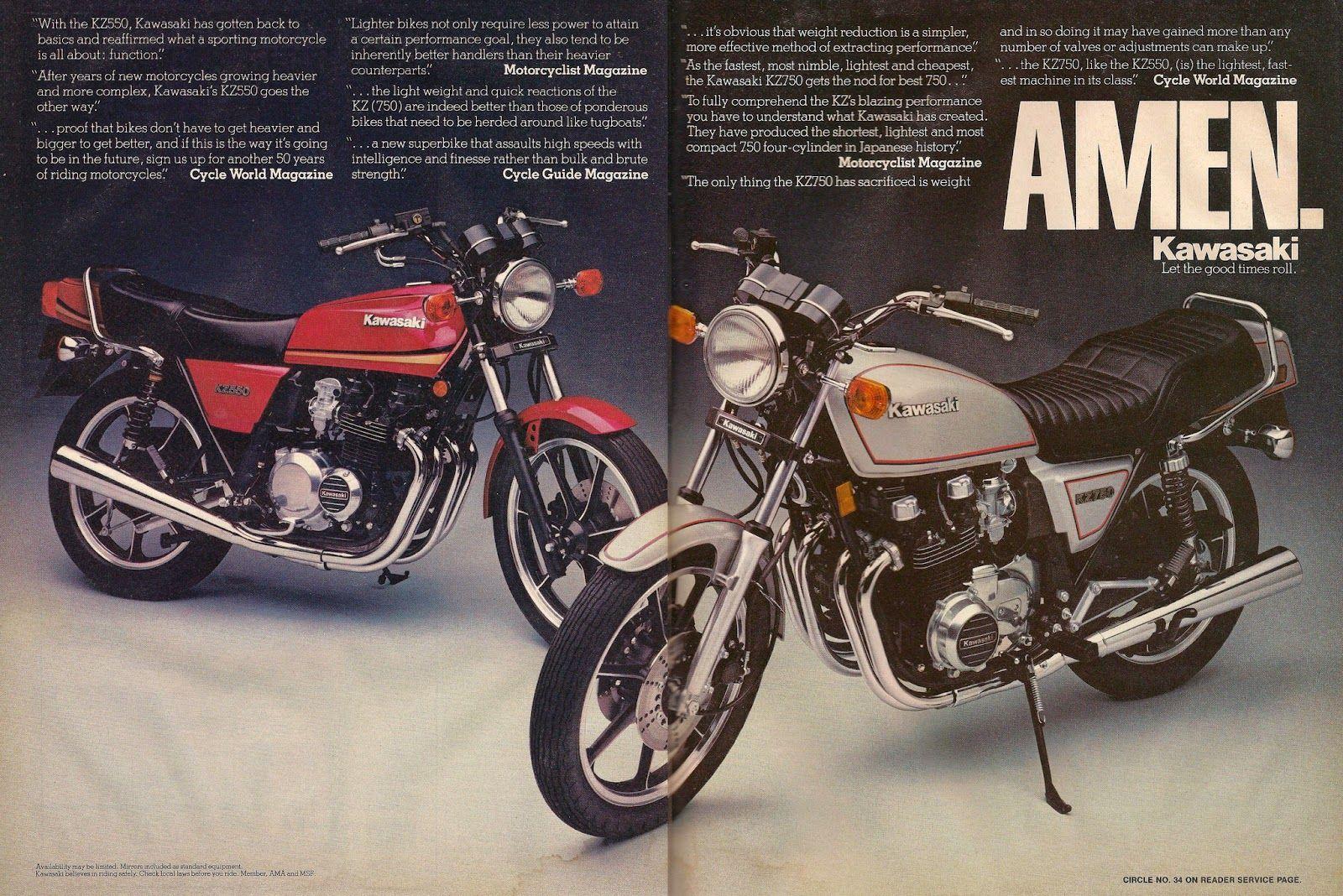 Vintage Brochures: Kawasaki KZ 550 '80s (Usa)