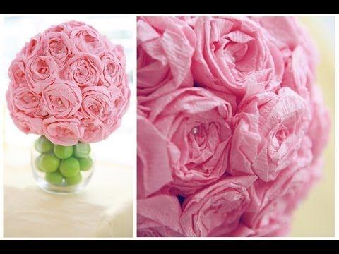 Diy: paper flower ball - YouTube
