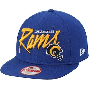 3ccf3a6bd2a Los Angeles Rams New Era Script 9FIFTY Snapback Adjustable Hat - Black