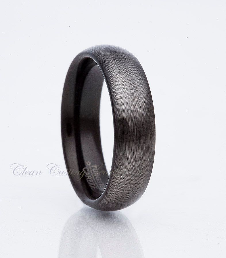 Tungsten Wedding Band Gunmetal Tungsten Men S Tungsten Ring Handmade Tungsten Carbide Brush Mens Wedding Bands Tungsten Tungsten Wedding Bands Tungsten Wedding