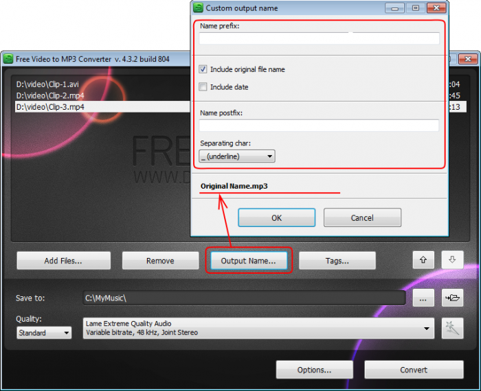 Convert MP3 to MP4 online, free .mp3 to .mp4 converter