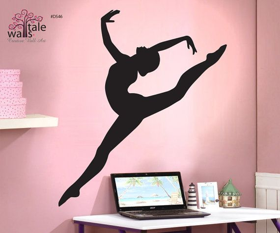 Gymnastics Wall Decal With Beautiful Girl By Wallstaledecor, $38.00