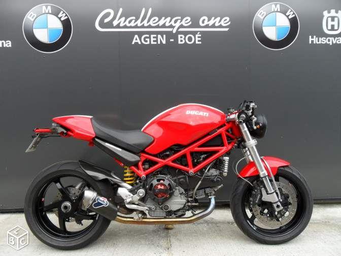 ducati monster 1000 s2 r cafe racer challenge one motos lot et garonne ducati. Black Bedroom Furniture Sets. Home Design Ideas