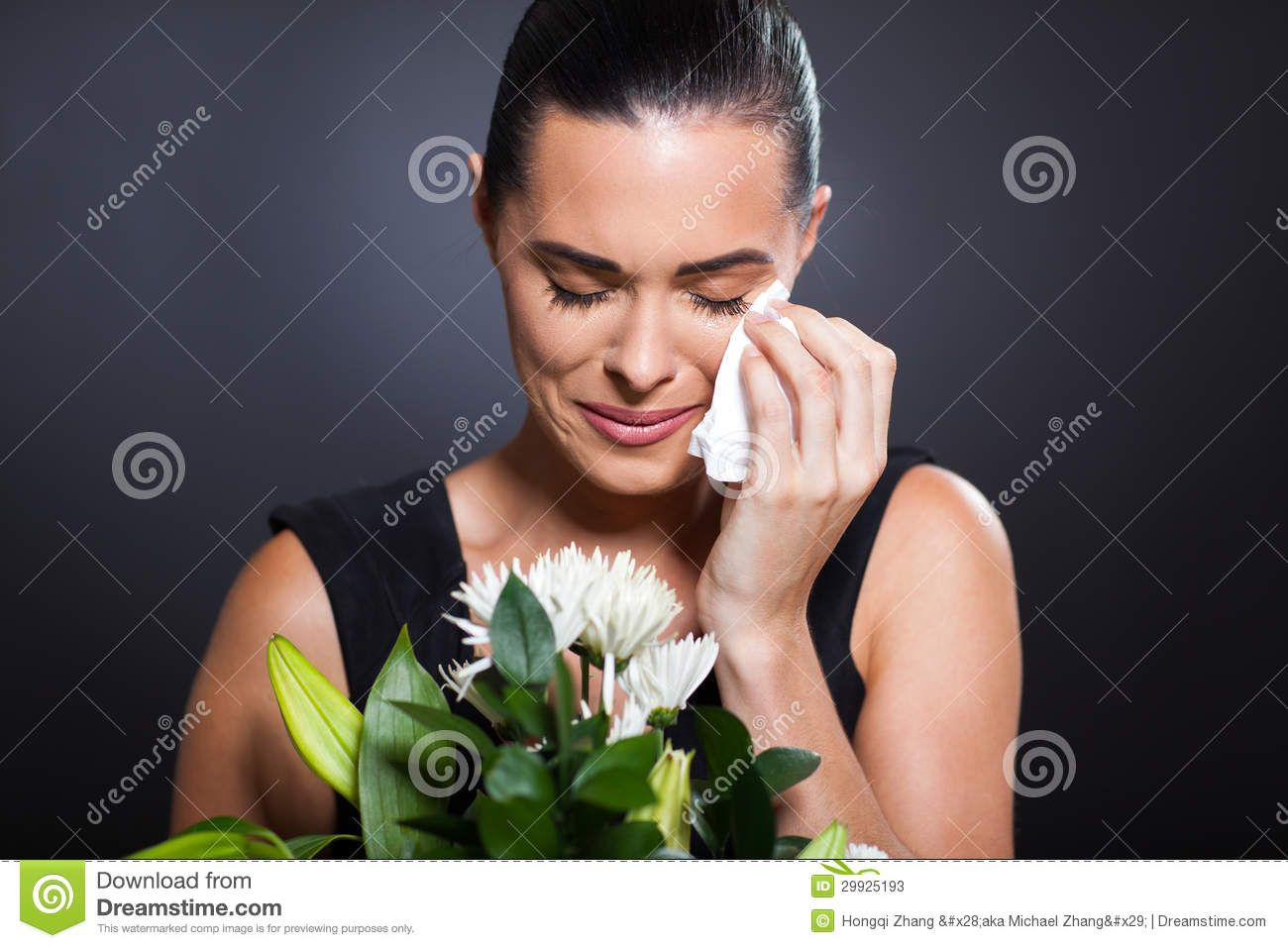 People Crying at a Funeral Stock Photos Crying woman