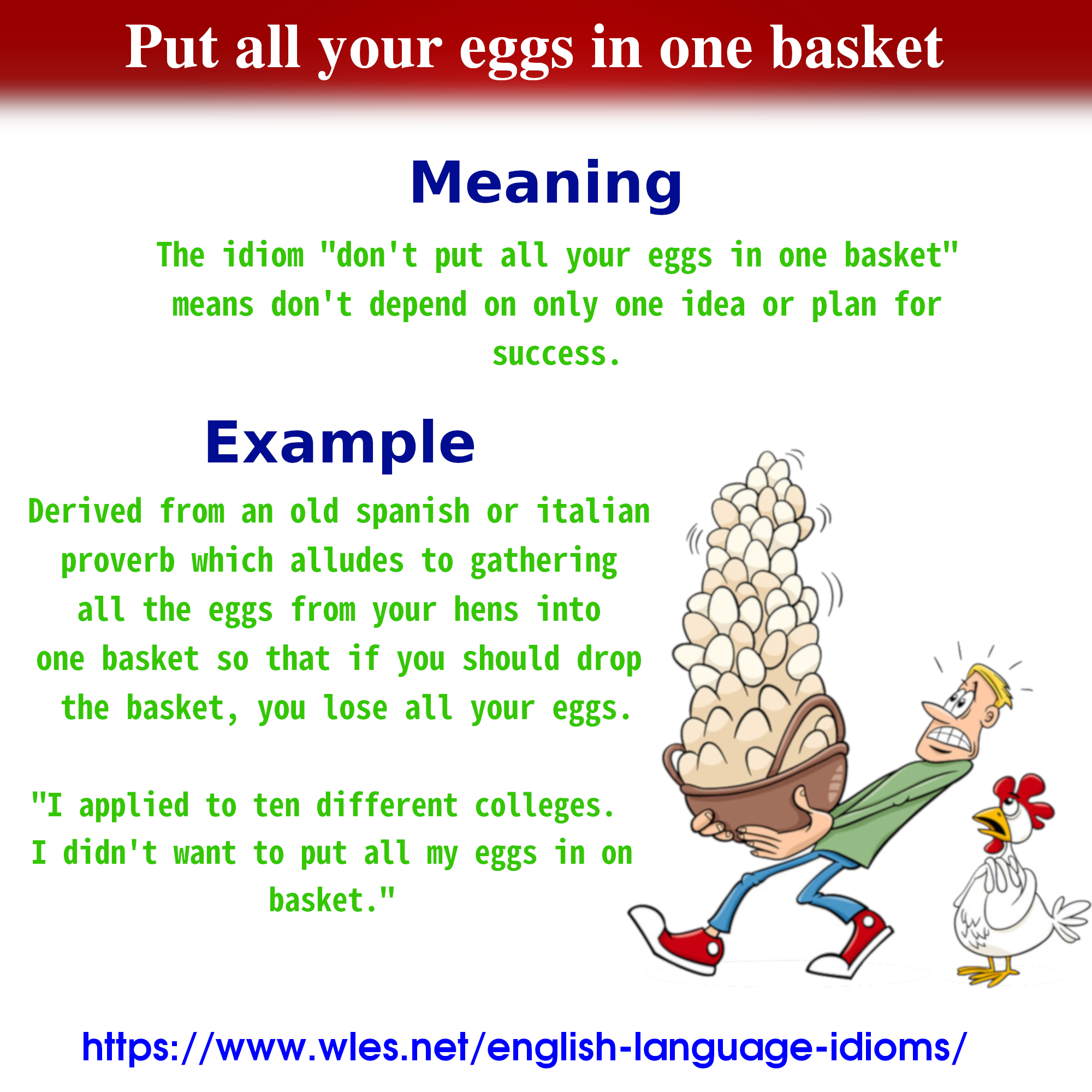 dont put all your eggs in one basket example