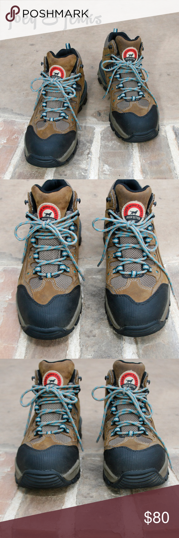 Red Wing Irish Setter Waterproof Work/Hike Boots 9