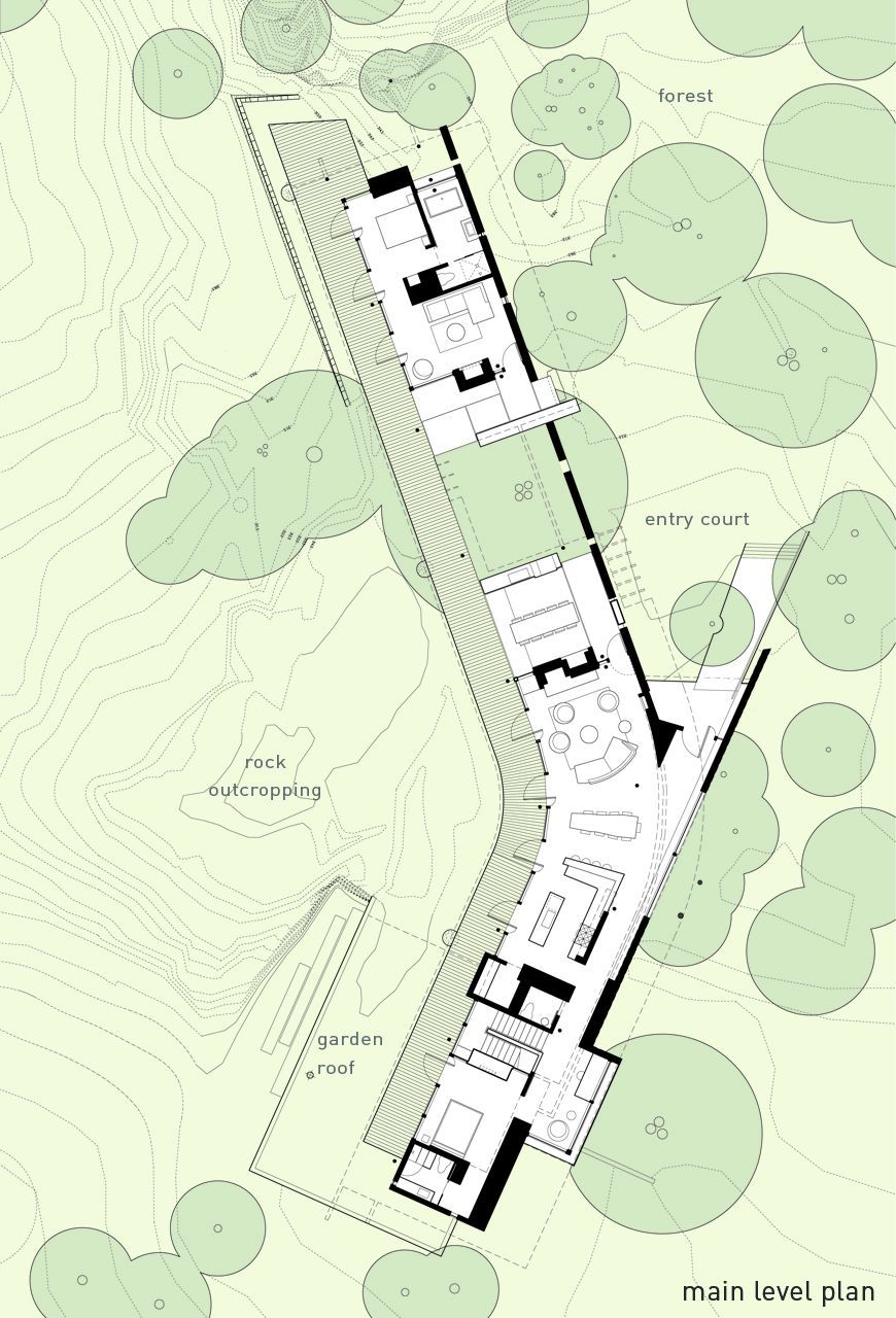 topography and trees nice context floorplans Dessin