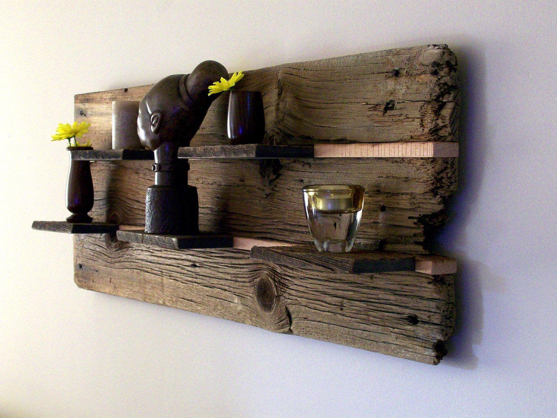 Rustic Reclaimed Barn Wood Wall Shelf Beautiful Woodwork