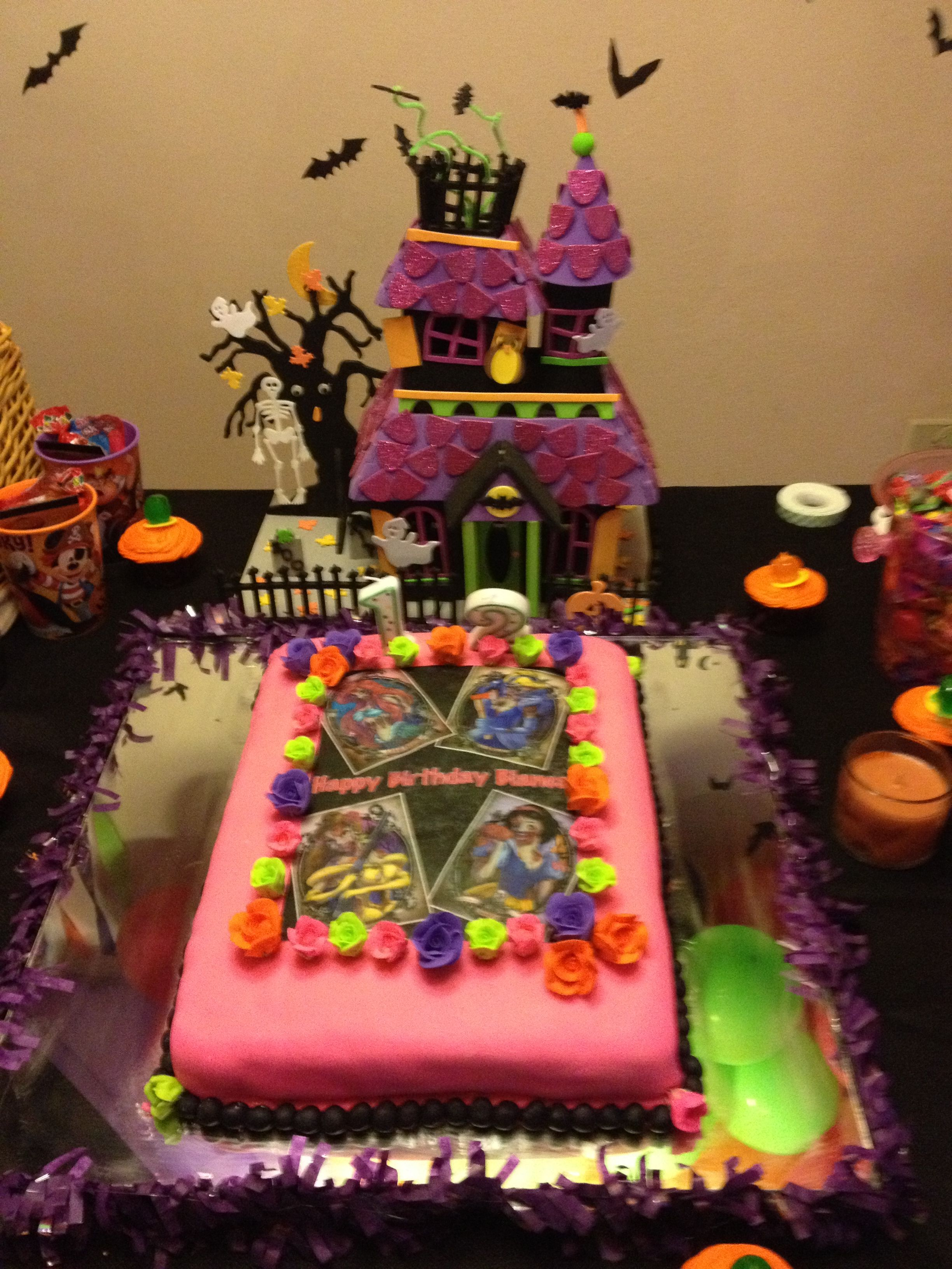 Birthday Cake Disney Princess Zombies