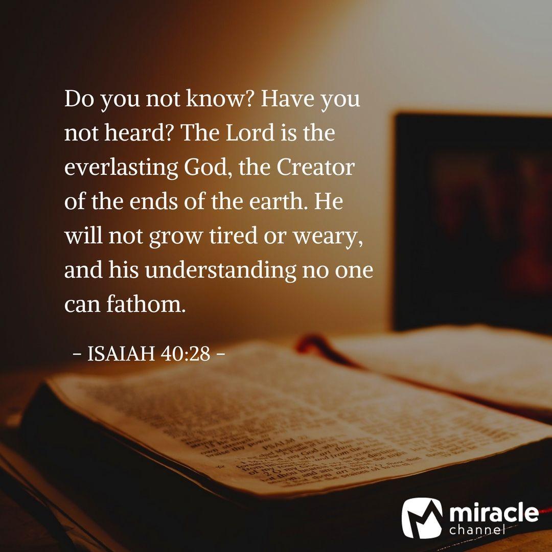 his understanding no one