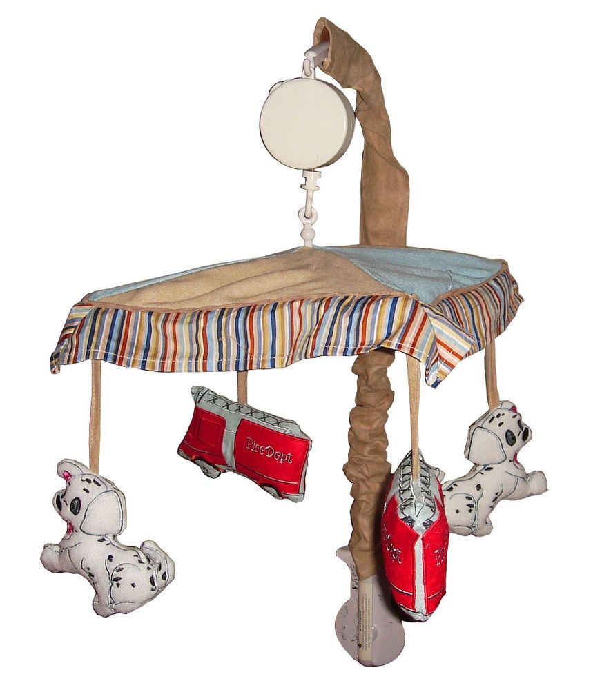Musical Mobile For Fire Truck Baby Crib