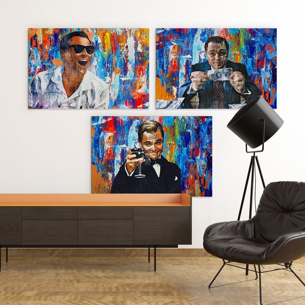 Wolf Of Wall Street Gatsby Canvases Bundles Wolf Of Wall Street Large Canvas Wall Art Shop Wall Art