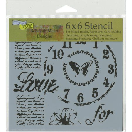 Crafter's Workshop Template 6 inchX6 inch-Time For Love, Multicolor