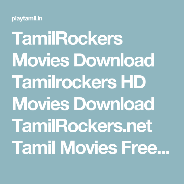tamilrockers hd movies free download