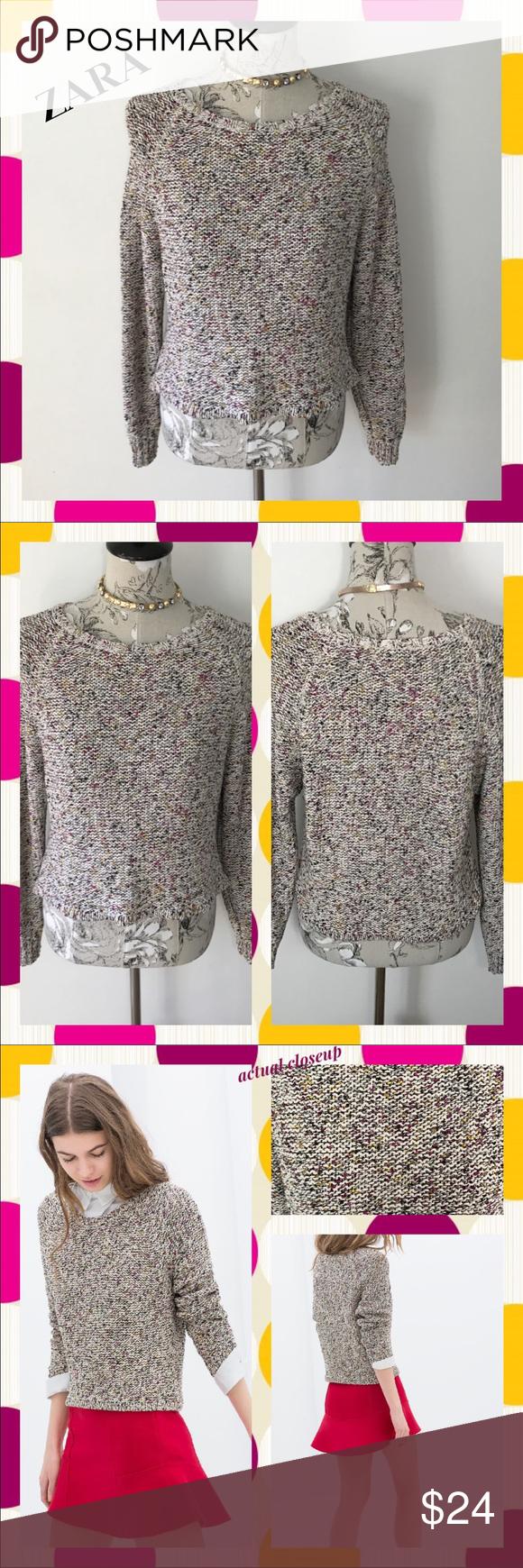 6b2fcad7 ZARA Multithread Pullover Bright Specks Sweater~ This Zara Trafaluc ...