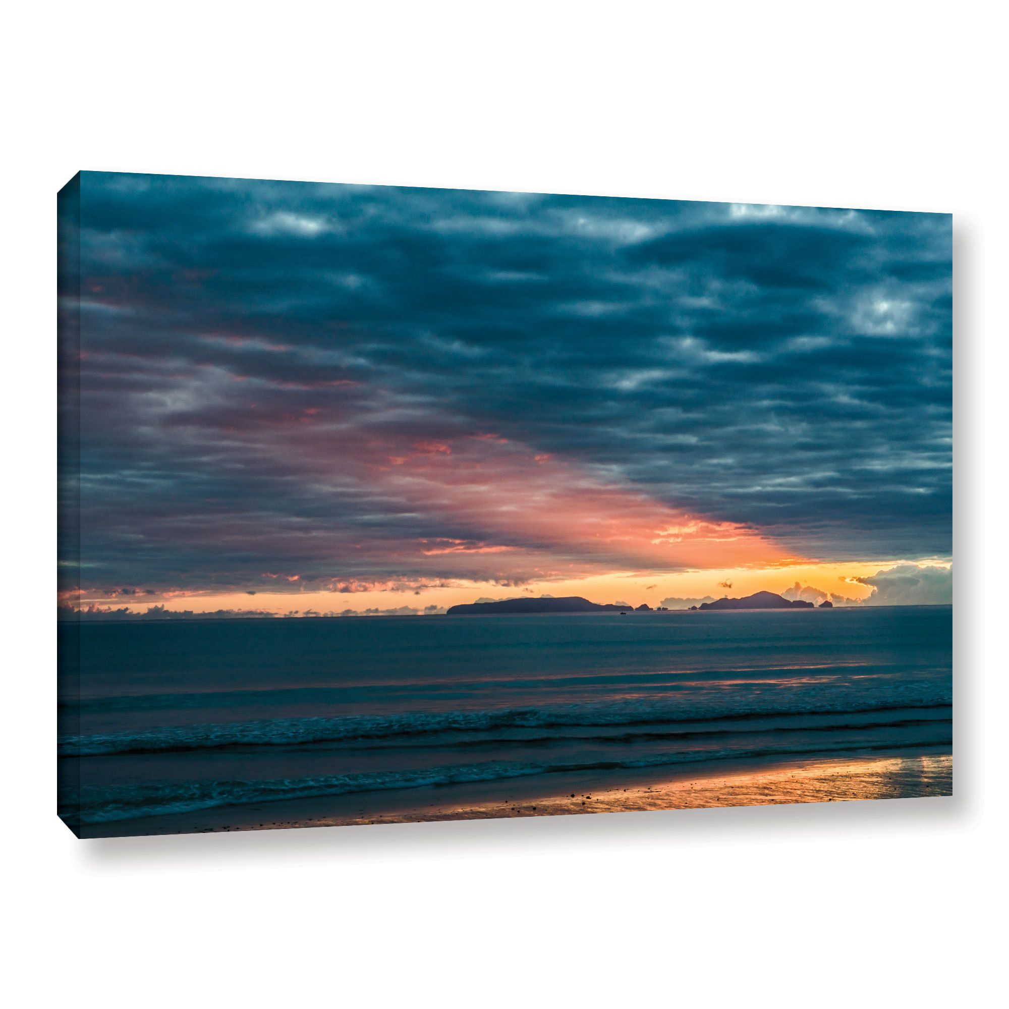 ArtWall Andrew Lever's 'Sunrise at Sandy Bay' Gallery Wrapped Canvas