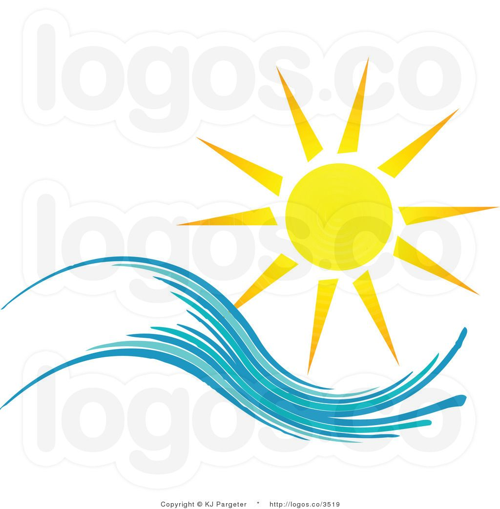Free Summer Clip Art | Royalty Free Summer Sun and Wave Logo by KJ ...
