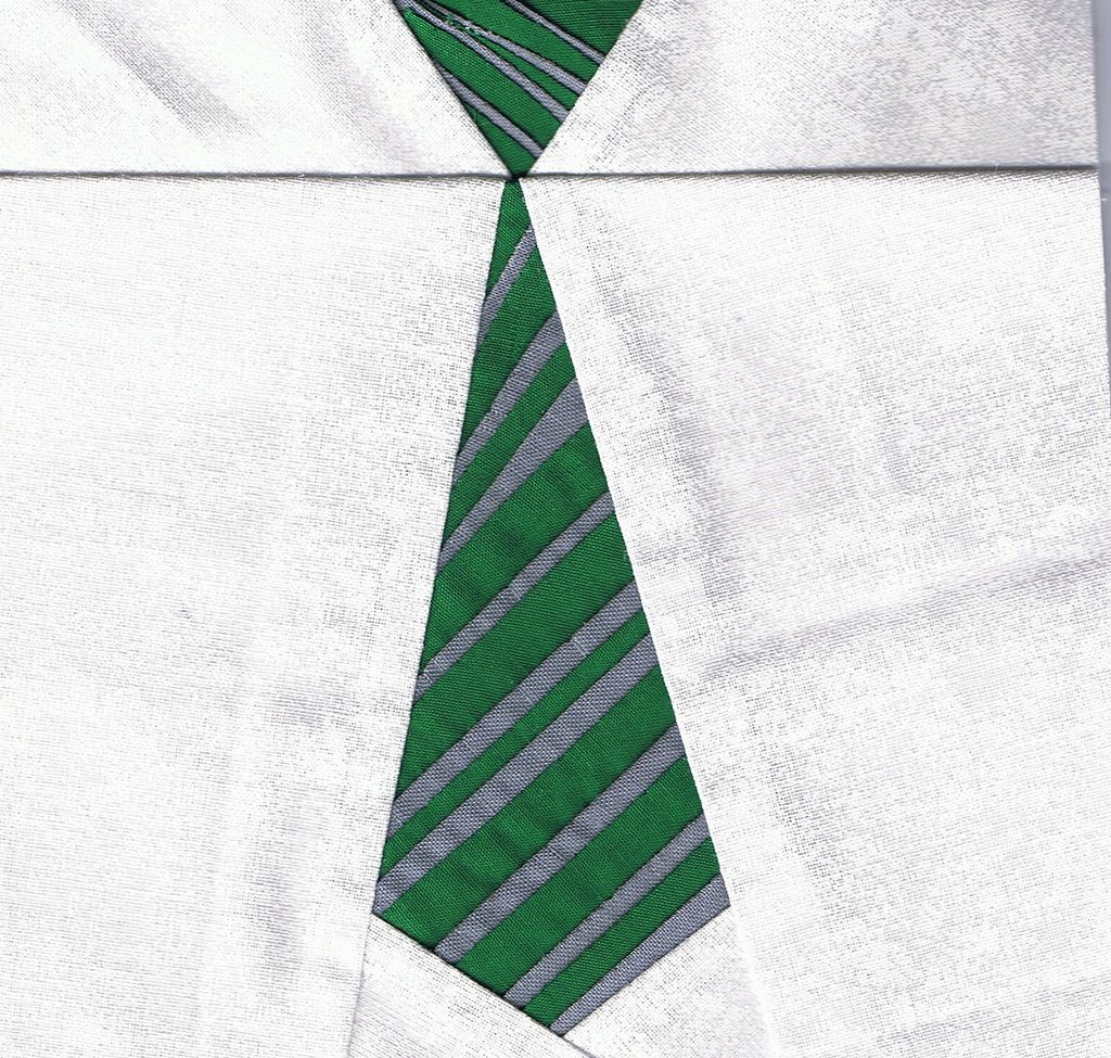 Slytherin House Tie Harry Potter Quilt Paper Piecing