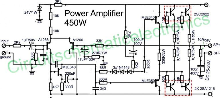 powered subwoofer wiring diagram  power amplifiers