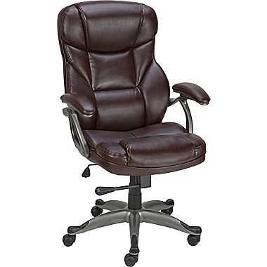 Staples Turcotte Chair Brown Metal Chairs Target Osgood Bonded Leather High Back Manager S