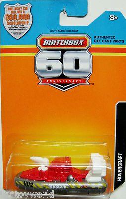 "HOVERCRAFT Matchbox 2013 60th Annversary Edition ""Rescue"""