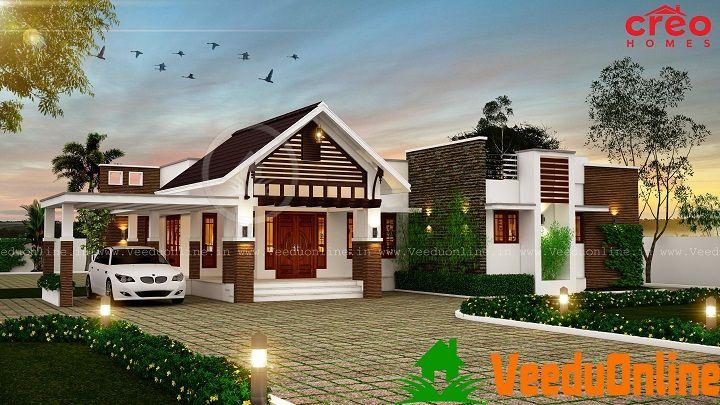 2771 Sq Ft Single Floor Contemporary Home Design In 2019