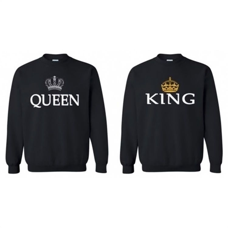 lover couple king queen long sleeve blouse valentine shirt. Black Bedroom Furniture Sets. Home Design Ideas