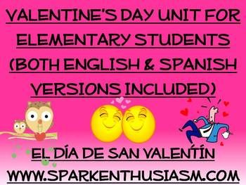 valentine 39 s day unit for elementary students el dia de san valentin activities for elementary. Black Bedroom Furniture Sets. Home Design Ideas