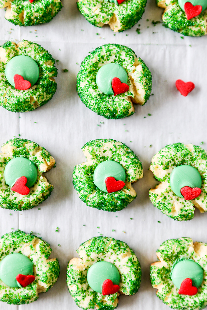 grinch thumbprint cookie recipe