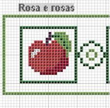 Resultado de imagem para grafico de maçã em ponto cruz