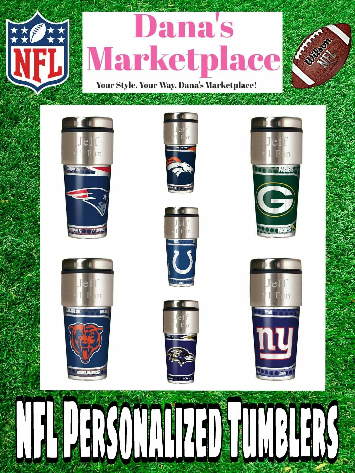 33be0cb9402 Personalized NFL tumblers! Just in time for football season!! Find ...