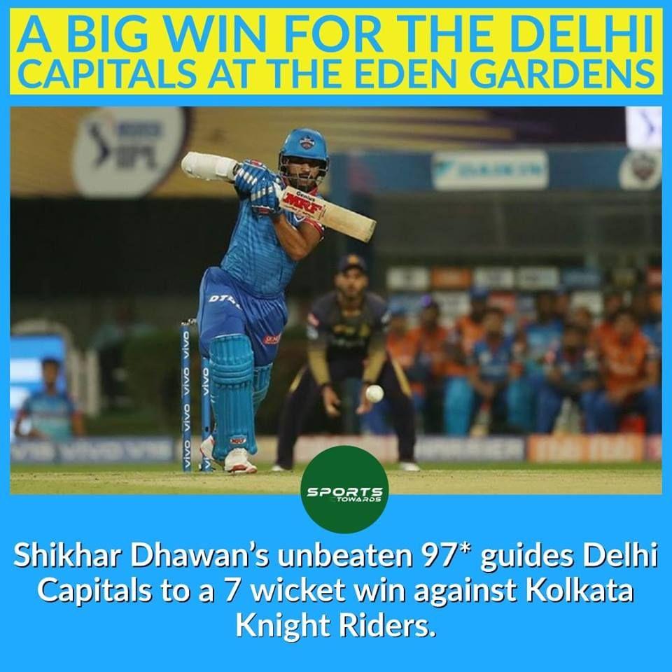 Delhi Capitals Defeated Kolkata Knight Riders By 7 Wickets To Win