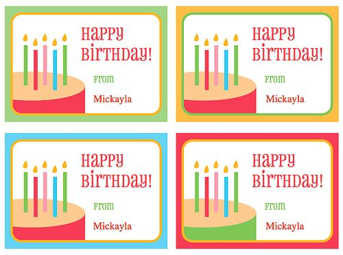 Cute Free Printable Tags For Birthday Party Gifts Personalize The With A Name Before Printing