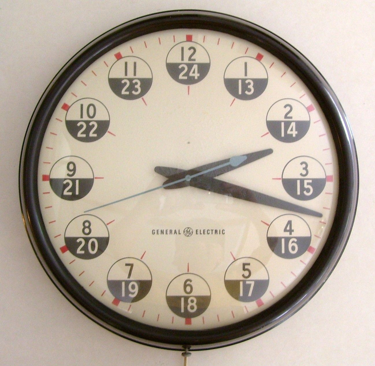 Details About Vintage General Electric Industrial Wall Clock 24 Hr Military Bakelite 17 5