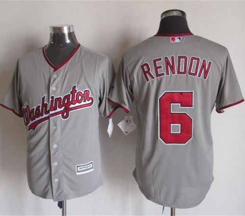 nationals 6 anthony rendon grey new cool base stitched mlb jersey