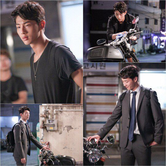 Actor Ji Soo takes on the role of a classy, charismatic biker in still cuts for his upcoming drama
